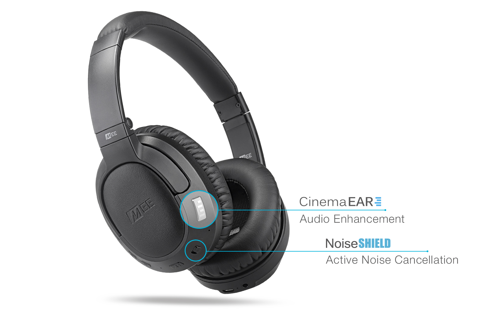 Matrix Cinema ANC Bluetooth Wireless Active Noise Cancelling Headphones  with CinemaEAR audio enhancement (AF68-ANC)